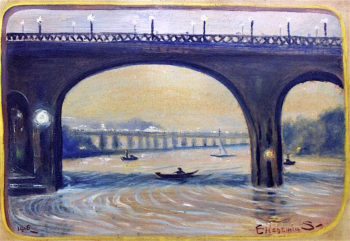High Bridge at Night | Louis M. Eilshemius | oil painting