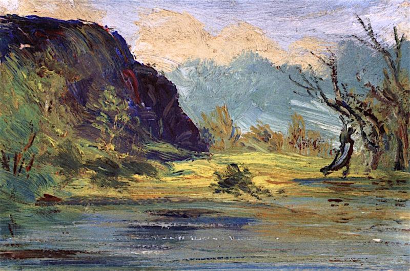 Windswept Rocks | Louis M. Eilshemius | oil painting
