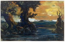 Romantic Sunset | Louis M. Eilshemius | oil painting