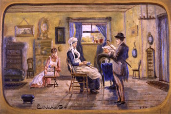 News for Grandmother | Louis M. Eilshemius | oil painting