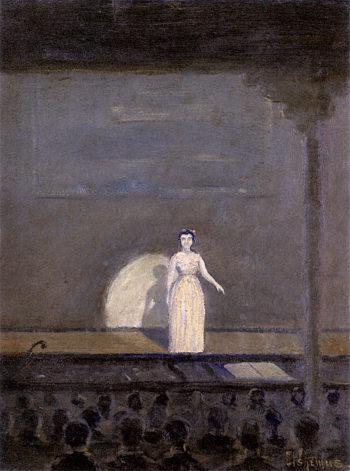 Concert Singer | Louis M. Eilshemius | oil painting