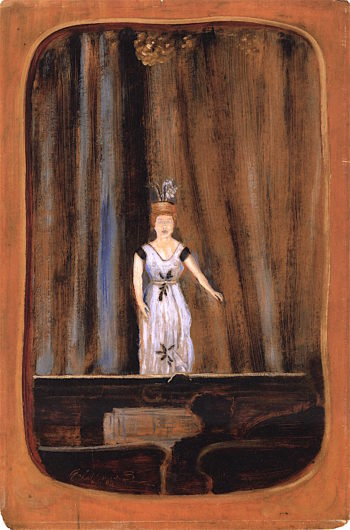 The Opera Singer   Louis M. Eilshemius   oil painting