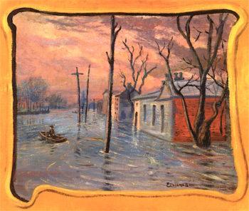 The Flood | Louis M. Eilshemius | oil painting