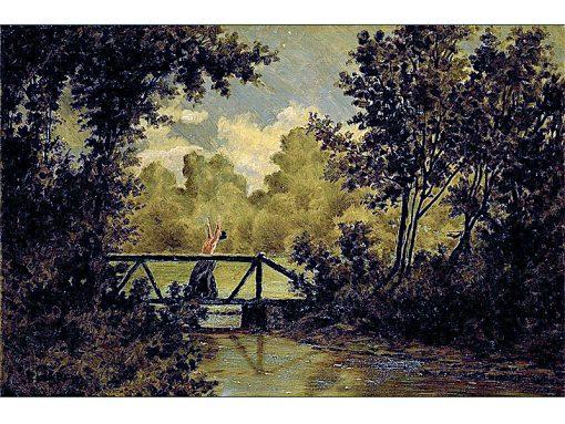 American Tragedy -  Revenge   Louis M. Eilshemius   oil painting