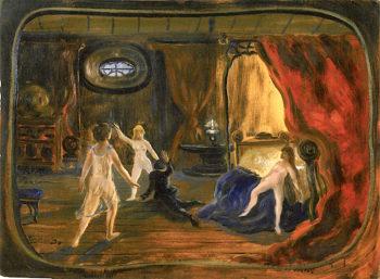 Jealousy   Louis M. Eilshemius   oil painting