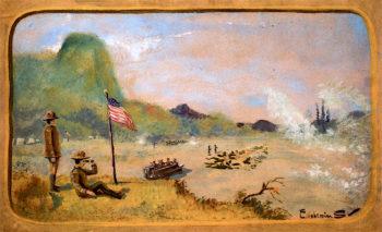 The Battle | Louis M. Eilshemius | oil painting