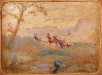Soldiers in a Landscape | Louis M. Eilshemius | oil painting