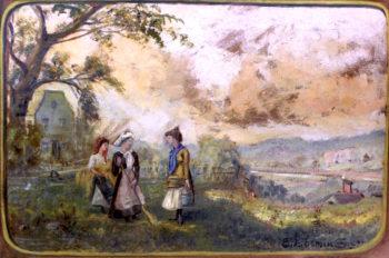Gossips | Louis M. Eilshemius | oil painting