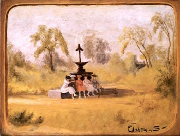 The Gossips   Louis M. Eilshemius   oil painting