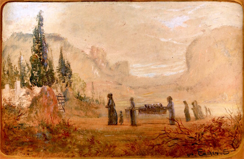 The Funeral | Louis M. Eilshemius | oil painting