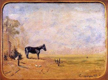 Mule on Farm | Louis M. Eilshemius | oil painting