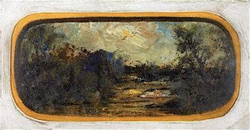 Twilight Landscape   Louis M. Eilshemius   oil painting