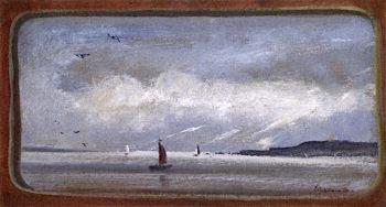 New York Harbor | Louis M. Eilshemius | oil painting