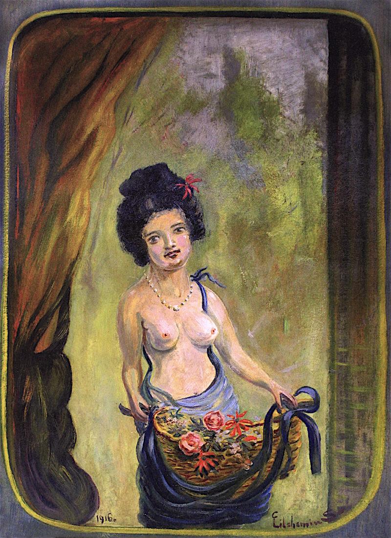 Flower Girl | Louis M. Eilshemius | oil painting
