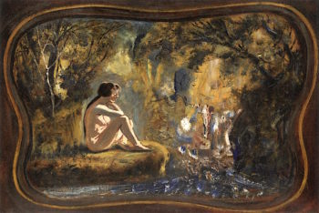 Nude in Woods | Louis M. Eilshemius | oil painting