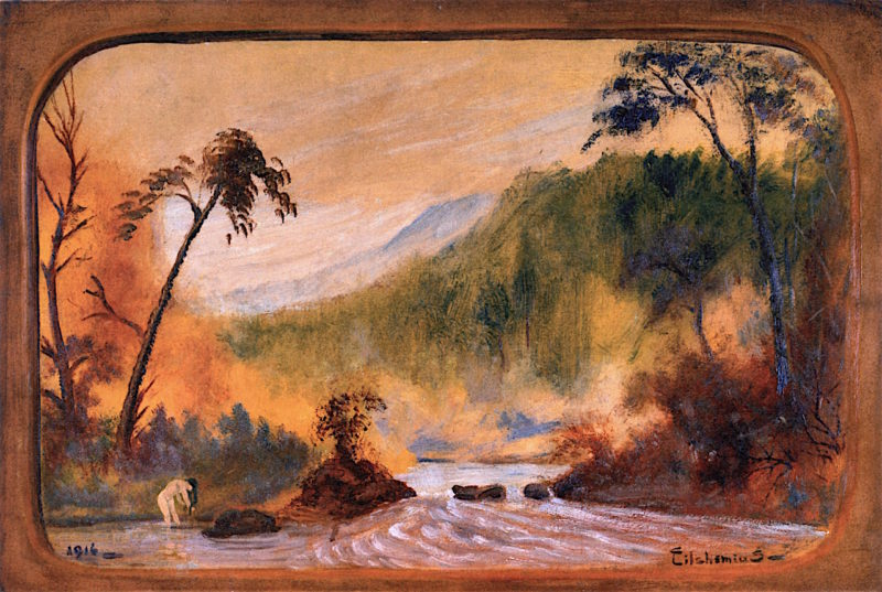 In the River | Louis M. Eilshemius | oil painting