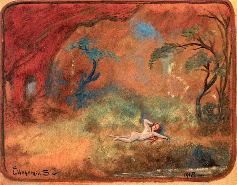 Birch Tree | Louis M. Eilshemius | oil painting
