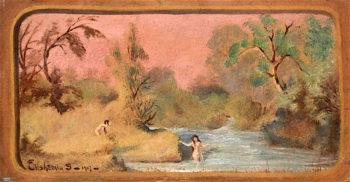 Landscape   Louis M. Eilshemius   oil painting