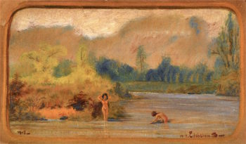 Landscapes with Nudes | Louis M. Eilshemius | oil painting