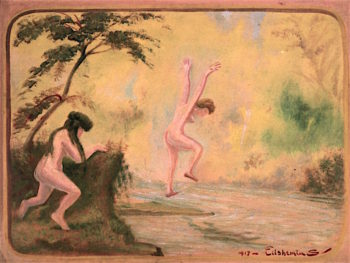 Dancing Nymphs | Louis M. Eilshemius | oil painting