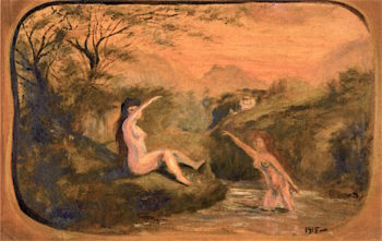Two Bathers | Louis M. Eilshemius | oil painting