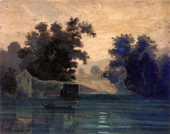 Twilight Landscape | Louis M. Eilshemius | oil painting