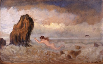 The Bather | Louis M. Eilshemius | oil painting