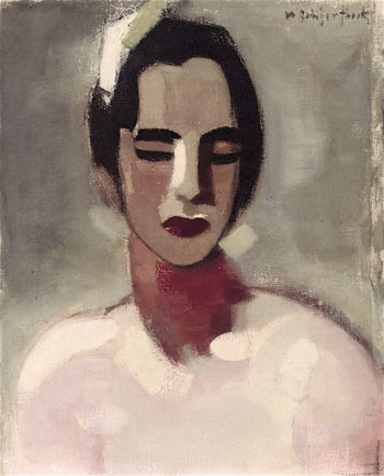 Girl from California | Helene Schjerfbeck | oil painting