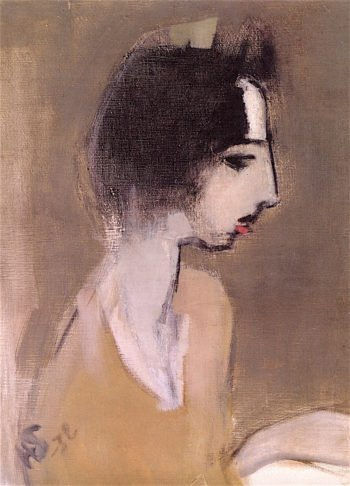Profile of a Woman (after Memory) | Helene Schjerfbeck | oil painting