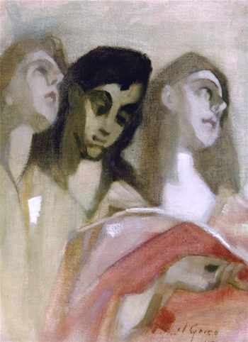 Angel Fragment | Helene Schjerfbeck | oil painting