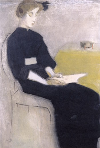 Girl Reading | Helene Schjerfbeck | oil painting