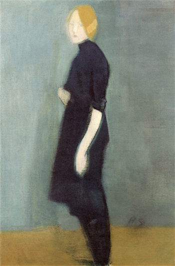 Girl from The Tapestry | Helene Schjerfbeck | oil painting