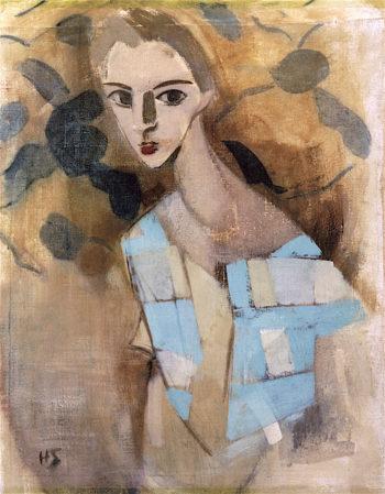 Girl from Eydtkuhnen II | Helene Schjerfbeck | oil painting