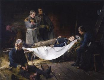 The Death of Wilhelm von Schwerin | Helene Schjerfbeck | oil painting