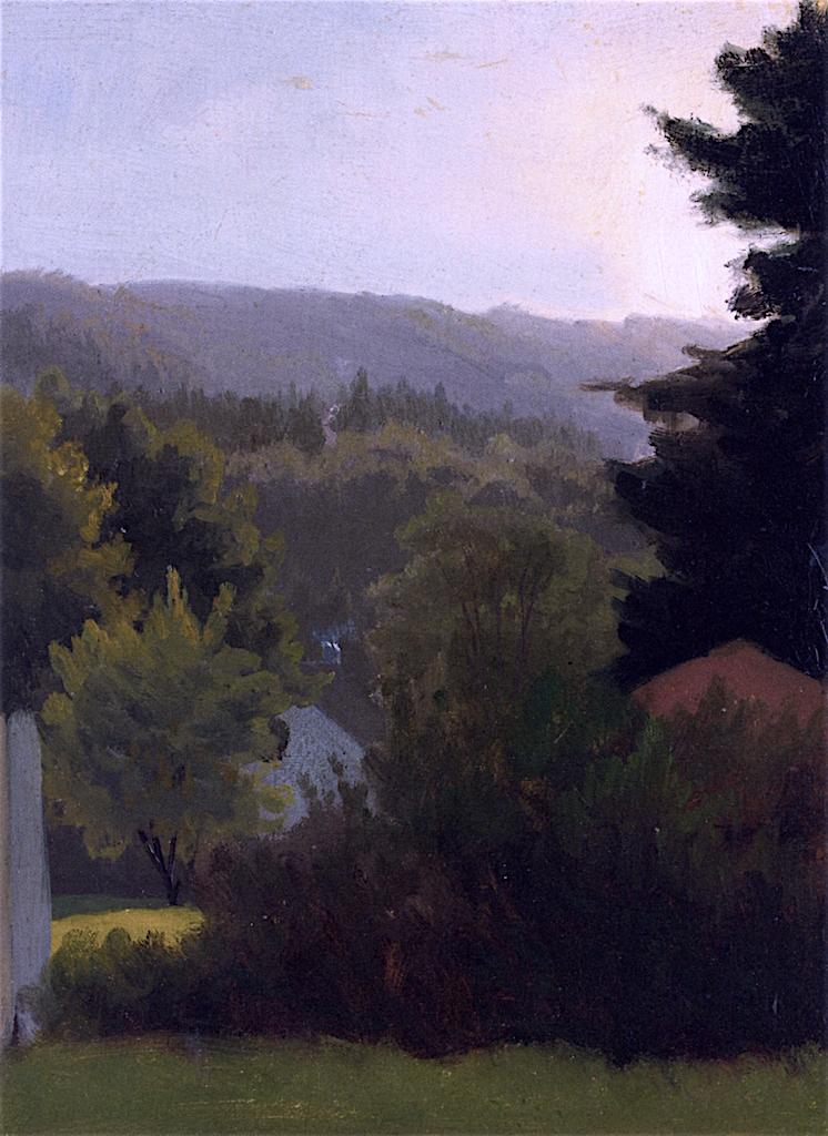 Forested Hills | Albert Bierstadt | oil painting