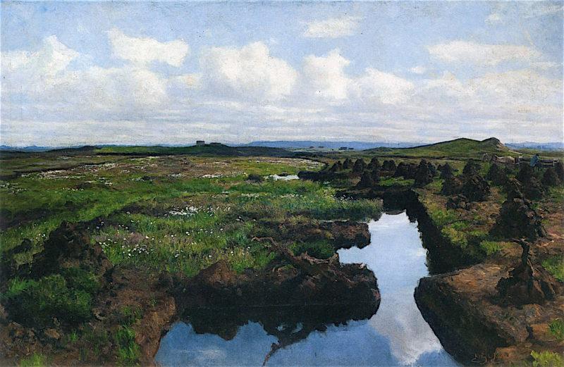 Peat Land in the District of Jæren | Kitty Kielland | oil painting