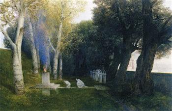 The Sacred Grove   Arnold Böcklin   oil painting