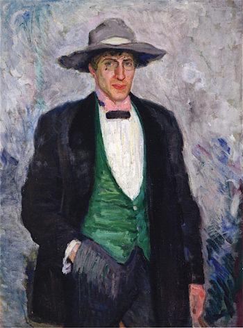 Portrait of Nikolai Astrup | Bernhard Folkestad | oil painting
