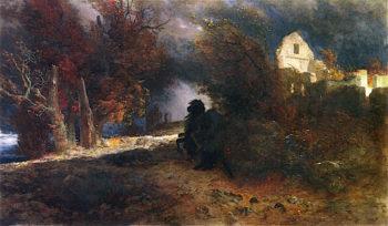 The Rider of Death   Arnold Böcklin   oil painting