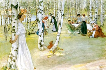 Breakfast in the Open | Carl Larsson | oil painting