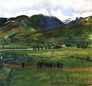 Funeral Day in Jølster | Nicolai Astrup | oil painting