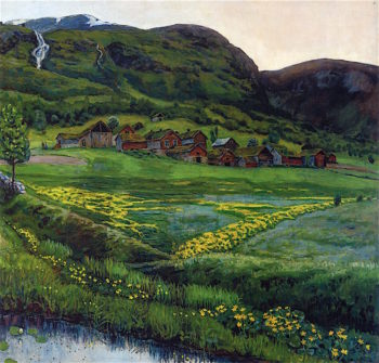 A Clear Night in June | Nicolai Astrup | oil painting
