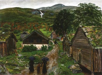 Farmstead in Jølster | Nicolai Astrup | oil painting