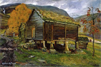 Storehouse in Jølster | Nicolai Astrup | oil painting