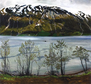 Grey Spring Evening | Nicolai Astrup | oil painting