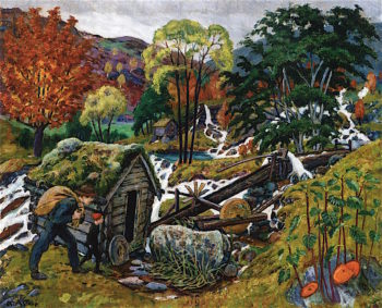 Milling Weather | Nicolai Astrup | oil painting