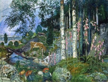 Foxgloves | Nicolai Astrup | oil painting