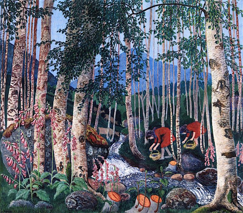 Foxgloves   Nicolai Astrup   oil painting