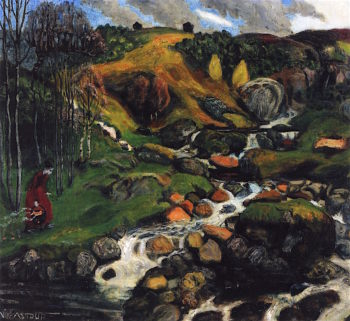 The Soil becomes Warmer | Nicolai Astrup | oil painting