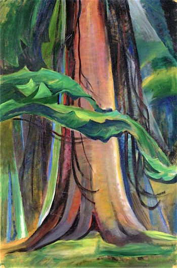 Red Tree | Emily Carr | oil painting